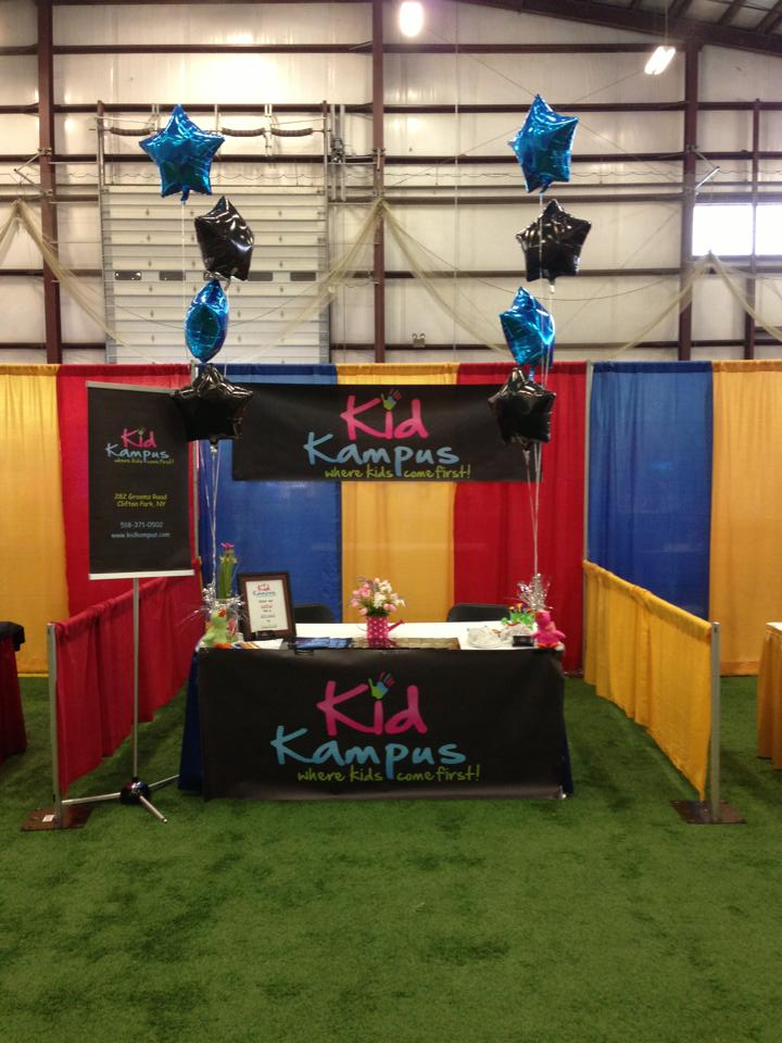 Kids Exhibition Booth : Kid kampus booth at the all about kids expo sportsplex